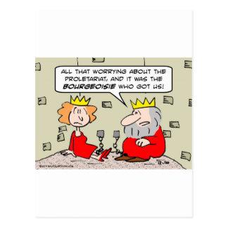 king queen dungeon proletariat bourgeoisie postcard