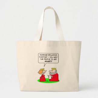 king queen education funding smart people tote bag