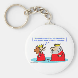 king queen fearless leader compliment basic round button keychain