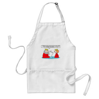 king queen fifteen minutes of fame adult apron