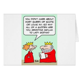 king queen grant asylum lady godiva greeting cards