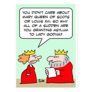 king queen grant asylum lady godiva postcard