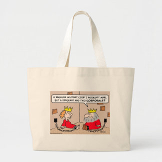 king queen military coup tote bag
