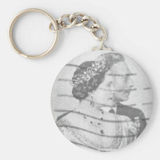 King & Queen of England Basic Round Button Keychain