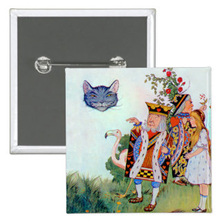 King & Queen of Hearts, Alice & the Cheshire Cat Button