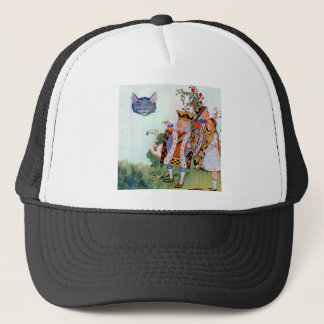 King & Queen of Hearts, Alice & the Cheshire Cat Trucker Hat