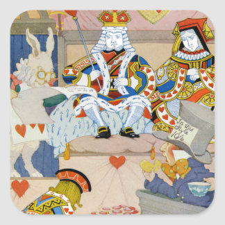 King & Queen of Hearts at Knave of Hearts Trial Square Sticker