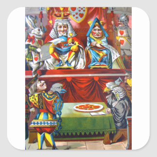 King & Queen of Hearts - The Knave of Hearts Trial Square Sticker