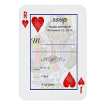 "King Queen Playing Card RSVP 3.5"" X 5"" Invitation Card"