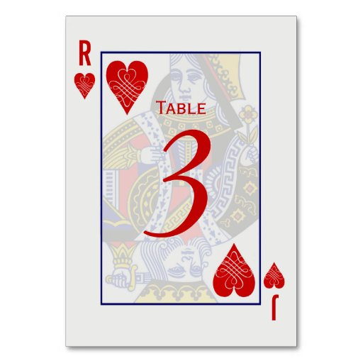 King Queen Playing Card Table Cards Zazzle