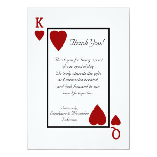 King/Queen Playing Card Thank You Notes