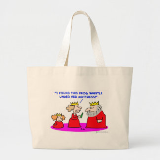 king queen princess frog whistle mattress tote bags