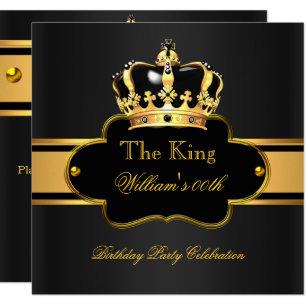 Men birthday invitations zazzle king queen royal black gold birthday men or women invitation altavistaventures Images