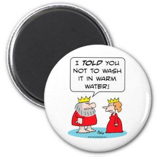king queen shrink robe wash warm water magnet