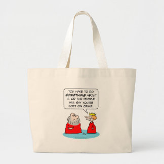 king queen stolen crown soft crime tote bags