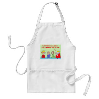 king queen washer dryer happy birthday aprons