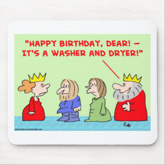 king queen washer dryer happy birthday mouse pad