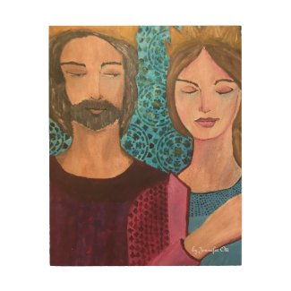 King & Queen Wood Print