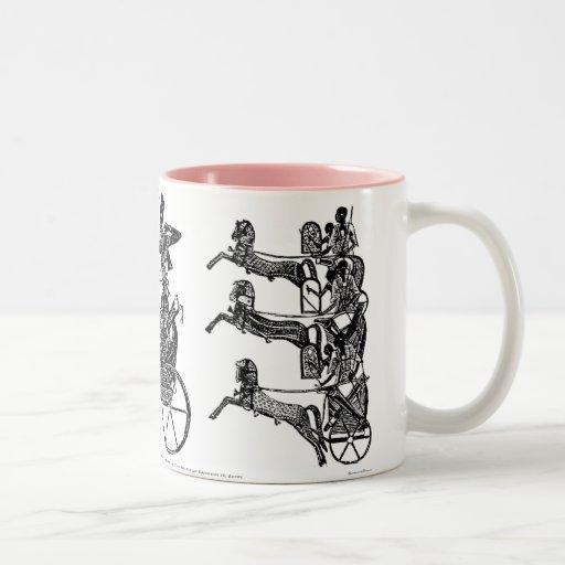 King Ramesses II and his Sons Egyptian Coffee Mug
