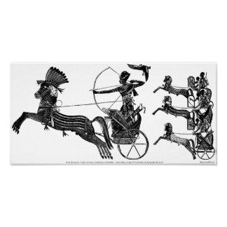 King Ramesses II Sons War Vintage Art Print Poster
