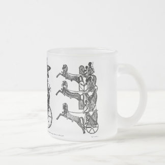 King Ramesses n Sons Collectible Art Frosted Mug! 10 Oz Frosted Glass Coffee Mug