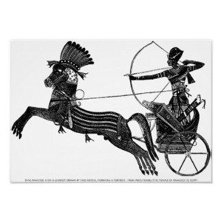 King Ramesses War Battle Vintage Art Print Poster