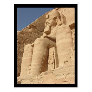 King Ramses Abu Simbel Egypt Postcard