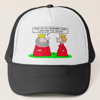 king remember deployed troops queen trucker hat