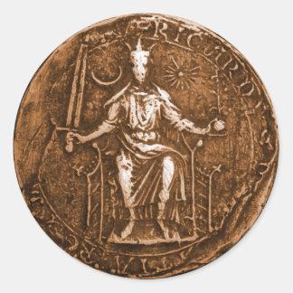 King Richard I, The Lion Heart Classic Round Sticker