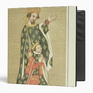 King Richard II (1367-1400) with his father Edward Binders