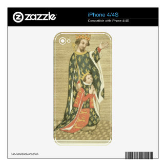 King Richard II (1367-1400) with his father Edward Decals For The iPhone 4S