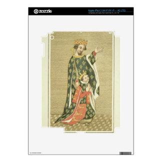 King Richard II (1367-1400) with his father Edward iPad 3 Skins