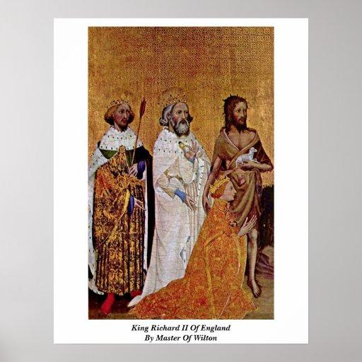 King Richard Ii Of England By Master Of Wilton Print