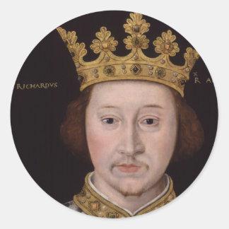 King Richard II of England Classic Round Sticker