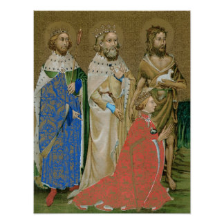 King Richard II - Wilton Diptych Poster