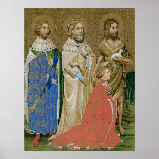 King Richard II - Wilton Diptych Print