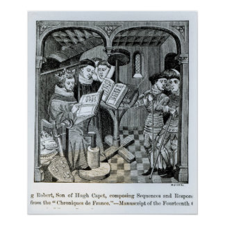 King Robert II  son of Hugh Capet Poster