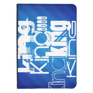 King; Royal Blue Stripes Kindle Touch Case