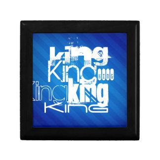King; Royal Blue Stripes Gift Box