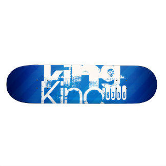 King; Royal Blue Stripes Skate Board