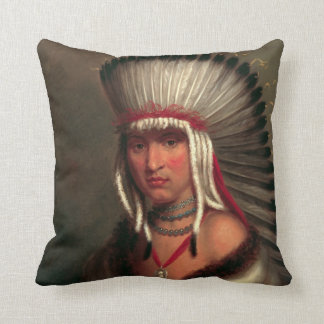 """King's """"Generous Chief"""" throw pillow"""