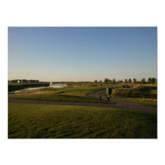 King s Walk Golf Course evening picture Print