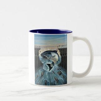 KIng Salmon Breaks through dam Mug