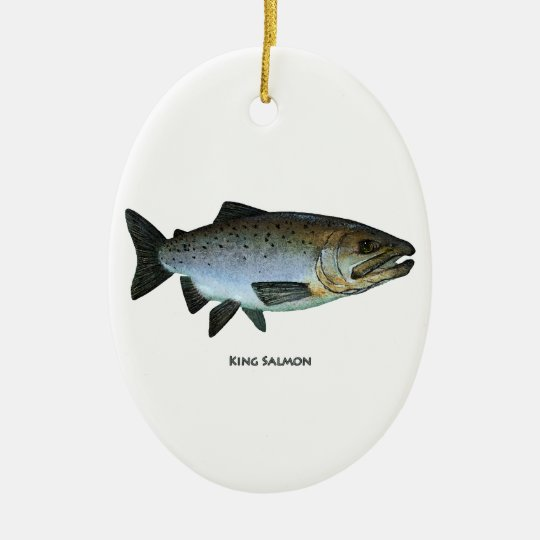 King Salmon Ceramic Ornament