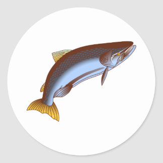 King Salmon Classic Round Sticker