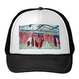 King Salmon Drying on Racks Trucker Hat