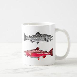 King Salmon. Silver and Spawning. Coffee Mug