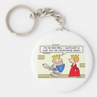 king scotland out of compliance queen keychain