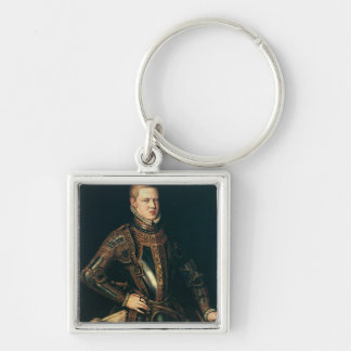 King Sebastian  of Portugal, c.1571 Silver-Colored Square Keychain
