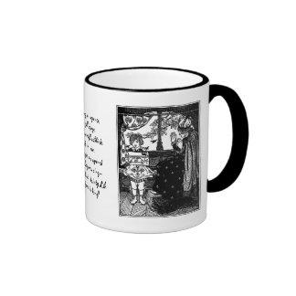 King Sees 24 Blackbirds Escaping Pie Coffee Mug